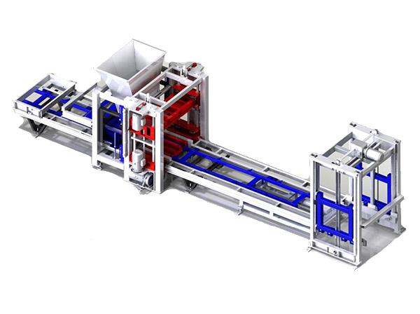 Автоматическая линия на базе вибропресса STEIF VFL-0.6/2