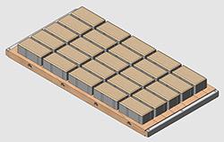 плитка тротуарная 100х200х60 мм